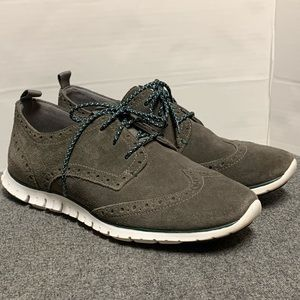 Cole Haan Grand Os Suede Leather Gray Sneaker 8